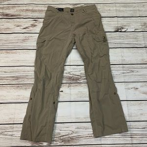 Kuhl Mountain Culture Cargo Tan Pants Size 12